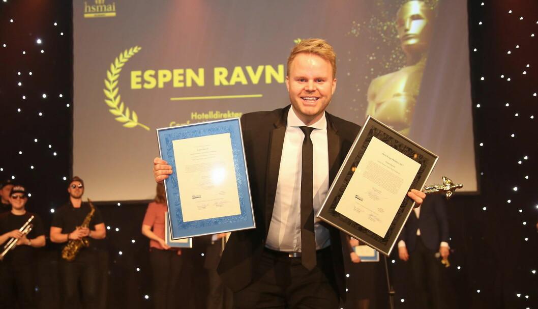 Espen Ravnå er kåret til «Årets hotelldirektør» i Nordic Choice Hotels. (Foto: Camilla Bergan, arkiv)