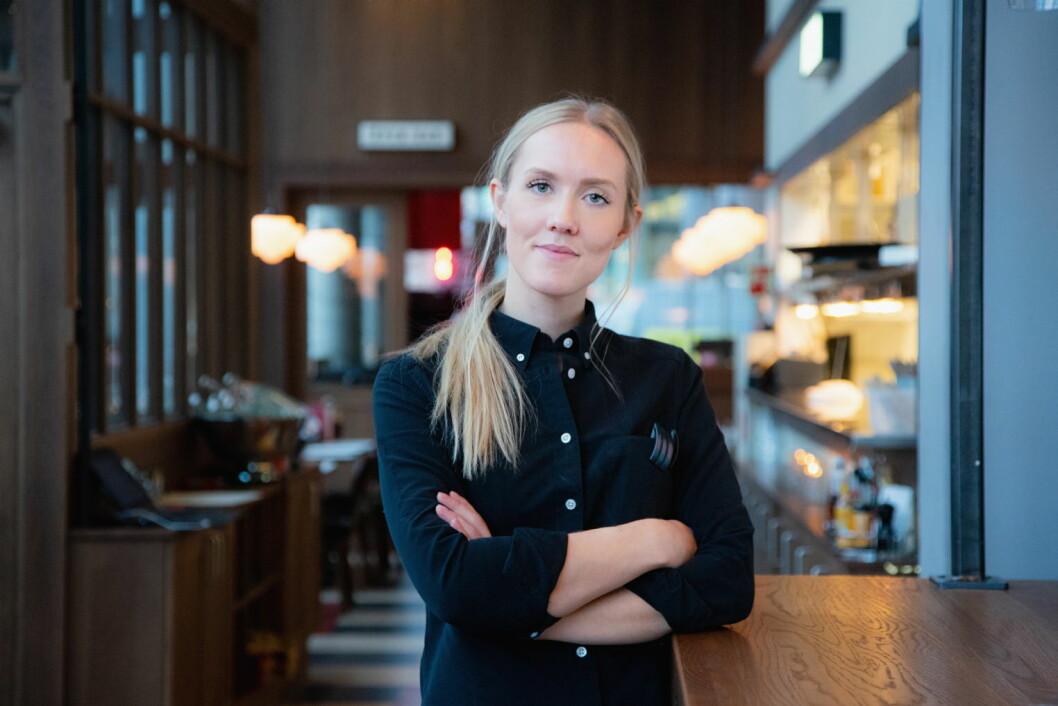 Daglig leder ved Døgnvill Burger Bjørvika i Oslo, Oda Buskenes Andersen. (Foto: Thomas Brun / NTB Kommunikasjon)