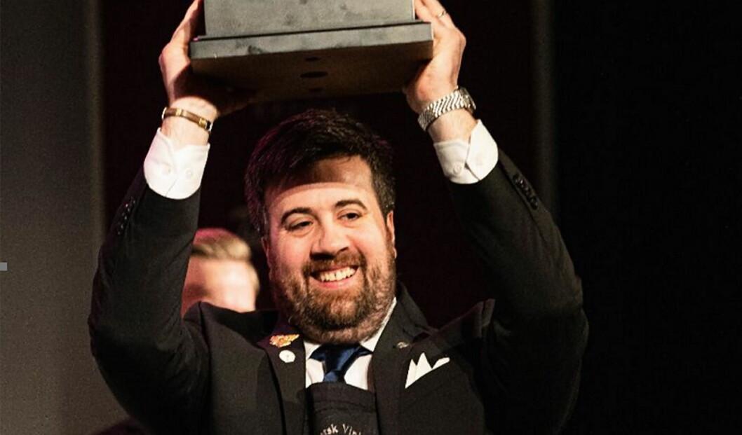 Francesco Marzola  er vinneren av Norsk Vinkelnermesterskap 2020. (Foto: Arrangøren)