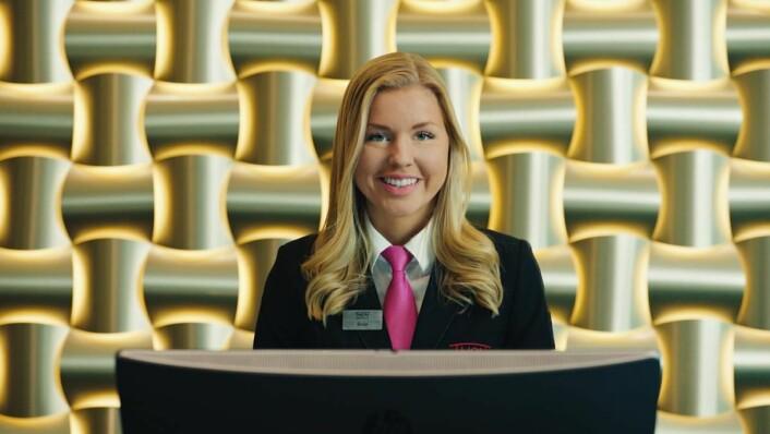 Reklamefilmen er spilt inn på ulike Thon-hoteller. Her fra Thon Hotel Opera i Oslo. Egne medarbeidere fyller de fleste rollene i reklamefilmen. (Foto: Thon Hotels)