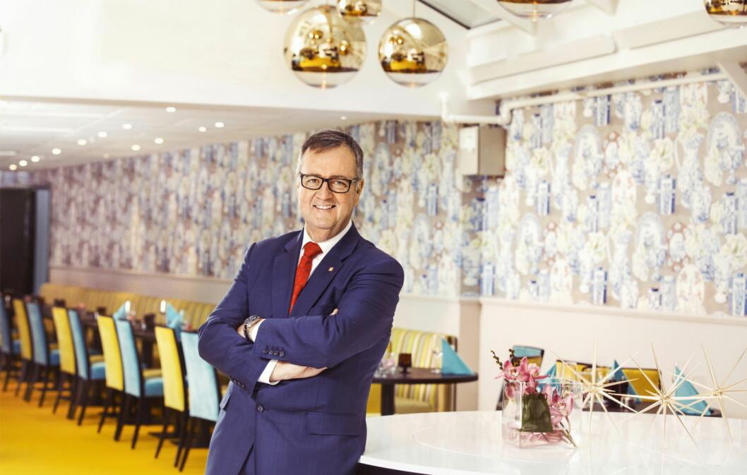 Konserndirektør for Thon Hotels, Morten Thorvaldsen. (Foto: Gry Traaen)