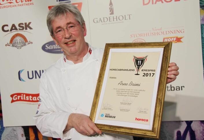 Norges første Bocuse d'Or-deltaker, og vinneren av Horecabransjens Ærespris i 2017, Arne Brimi, deltar. (Foto: Morten Holt)