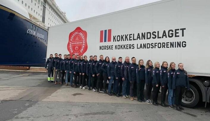 De tre norske kokkelandslagene er på vei til kokke-OL i Tyskland. (Foto: NKL)