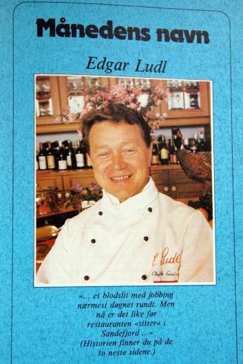 Edgar Ludl, månedens navn i Storkjøkken i 1982. (Faksimile fra Storkjøkken)