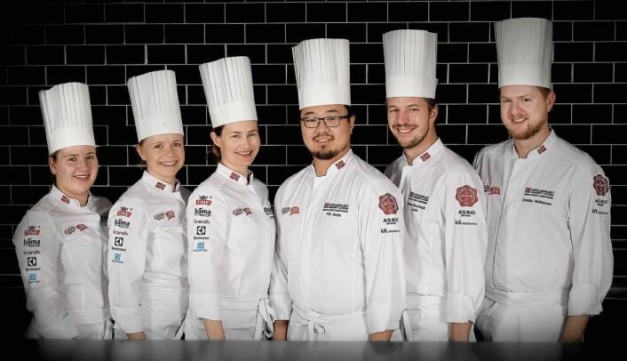 Kokkelandslaget Community Catering. (Foto: Eirik Nilsen, Matbyrået Impuls)