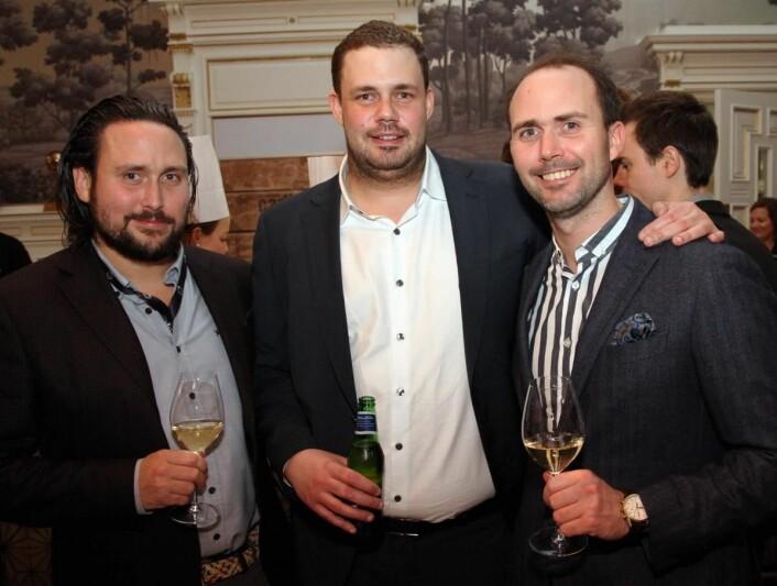 Kristian Vangen (midten) sørget for Vestlandets og Hordalands første Michelin-stjerne med Bare. Arnt (til venstre) og Ørjan Johannessen på Austevoll har lagt planer for at nye stjerner skal komme vestover. (Foto: Morten Holt)