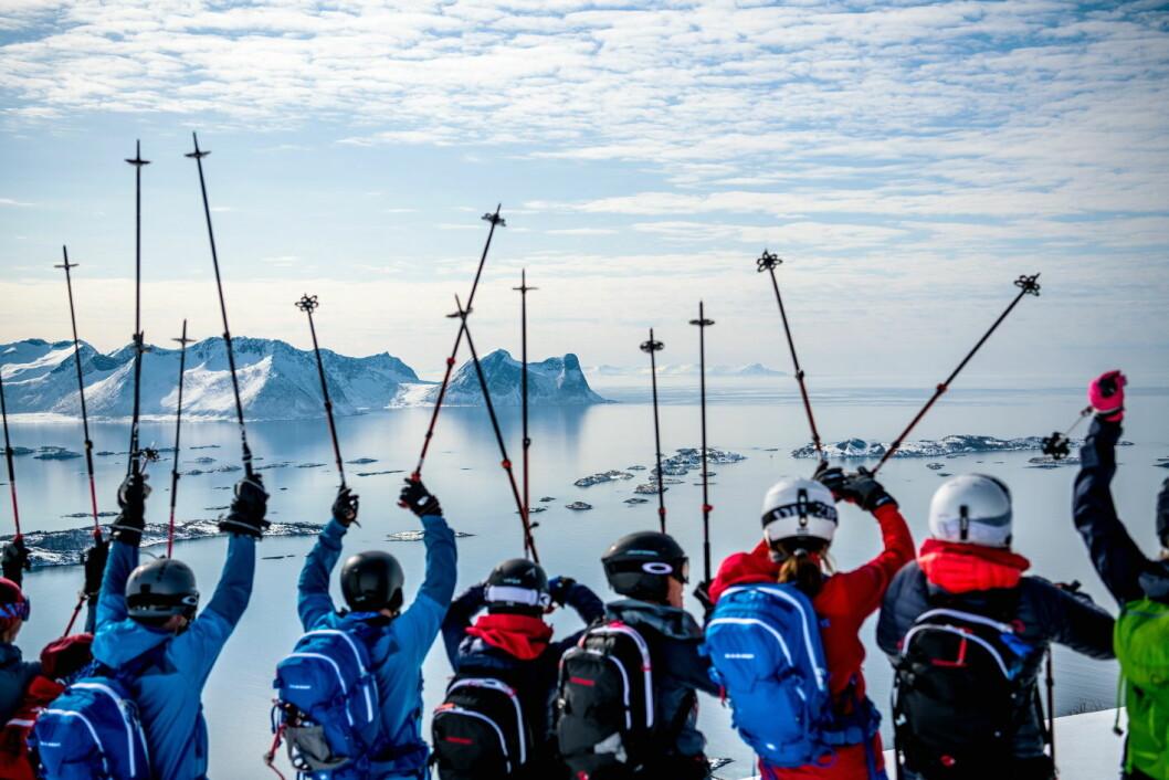For fjerde sesong kan du bli med til topps i Lofoten, Andørja, Senja og Kvaløya. (Foto: Arctic Haute Route)