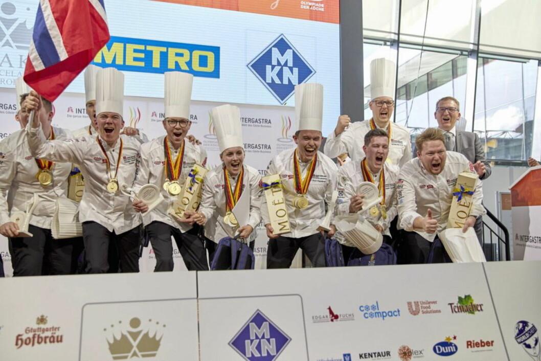 Gull sammenlagt til Norge i kokke-OL! (Foto: IKA Culinary/Olympics)