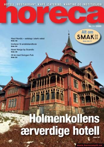 Forsiden på Horecas første utgave i 2020. (Foto: Morten Holt/layout: Tove Sissel Larsgård)