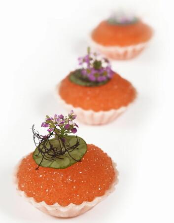 Løyrom var en av ingrediensene på det norske kokkelandslagets meny i kategorien Chefs Table. Foto: Eirik Nilssen/Matbyrået Impuls)