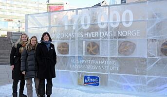 Isvegg mot brødsvinn ved Oslo S