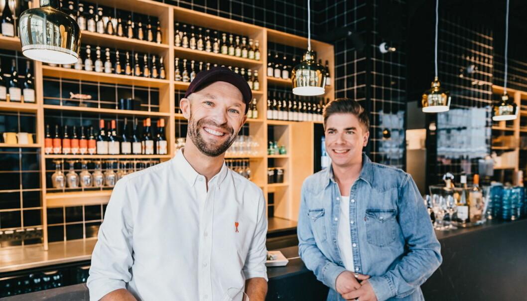 Gründerne bak Sushibar+Wine, Anders Westerholm og Matti Sarkkinen. (Foto: Sushibar+Wine)