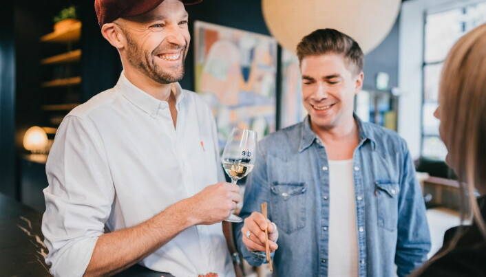 Gründerne Anders Westerholm og Matti Sarkkinen. (Foto: Sushibar+Wine)