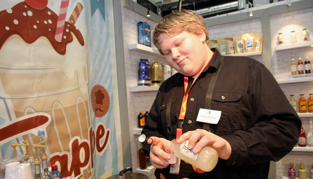 Patrick Berby hos Kaffe Koppen Distribusjon AS. (Foto: Morten Holt)