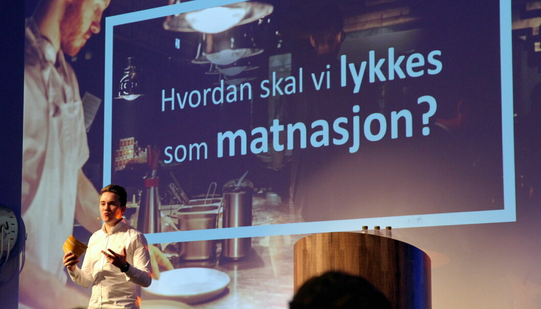 Landslagskaptein Christer Rødseth deltok på åpningskonferansen tirsdag (Foto: Morten Holt)