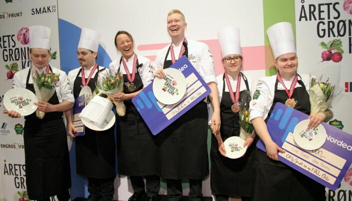 Hele pallen i Årets grønne kokk 2020. (Foto: Morten Holt)