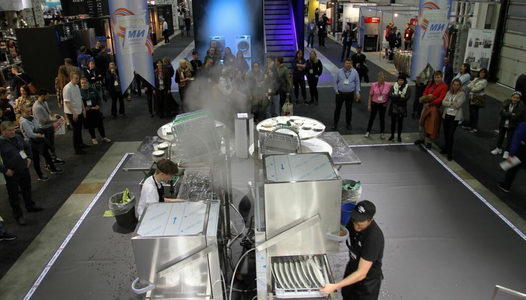 Finalene i NM i maskinoppvask arrangeres på Smak 2020 på Norges Varemesse fredag. (Foto: Morten Holt)