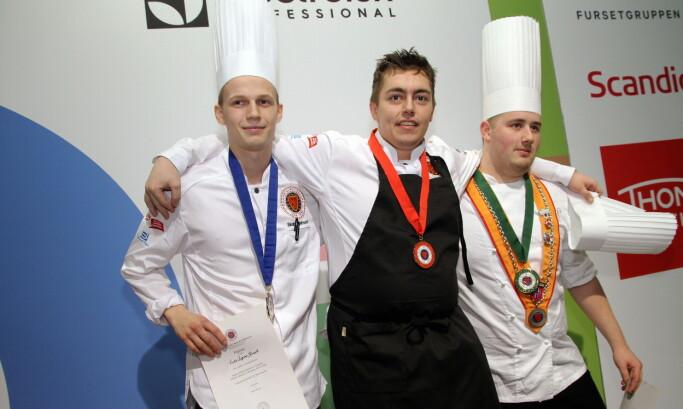 Sindre Fagermo Hjelmseth (fra venstre), Emil Lundemo Bakken og Christian Honstad. (Foto: Morten Holt)