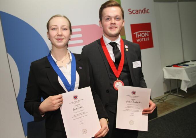 Arne Kristian Birkelund Bævre vant Jeunes Sommelier foran Jeanette N. Galdal. (Fot: Morten Holt)