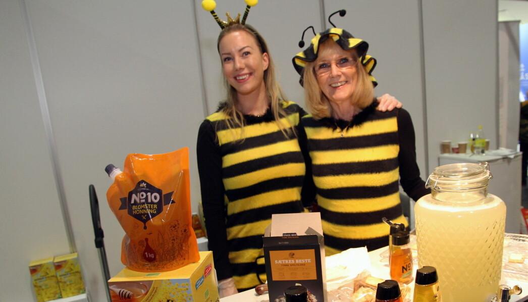 Sabine Hannevig (til venstre) og Turid Ekstrøm hos Pehan Produkter. (Foto: Morten Holt)