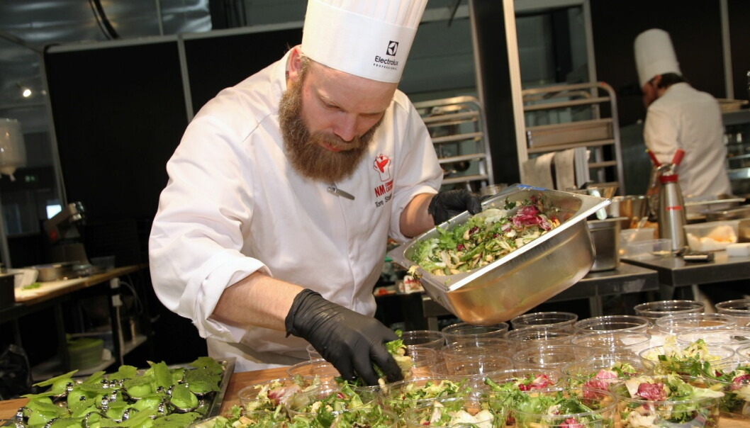 Tore Stalsberg hos Scandic Maritim Catering i NM Community Catering. (Foto: Morten Holt)