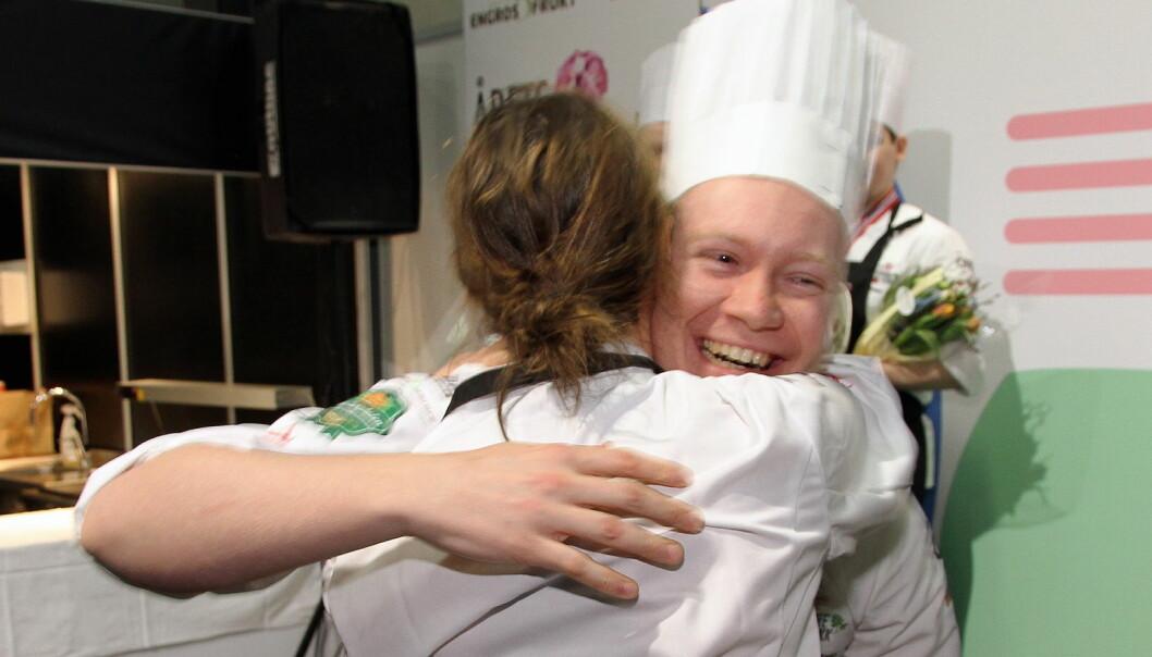 Joachim Lindgren og Nina Kristoffersen vant Årets grønne kokk nok en gang. (Foto: Morten Holt)