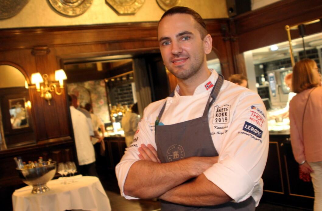 Filip August Bendi fra Hotel Bristol er Norges deltaker i nordisk mesterskap for kokker i Herning i Danmark nå i mars. (Foto: Morten Holt)