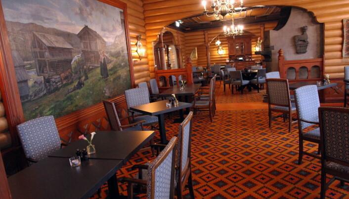 De Fem Stuer er hovedrestauranten på hotellet. (Foto: Morten Holt)