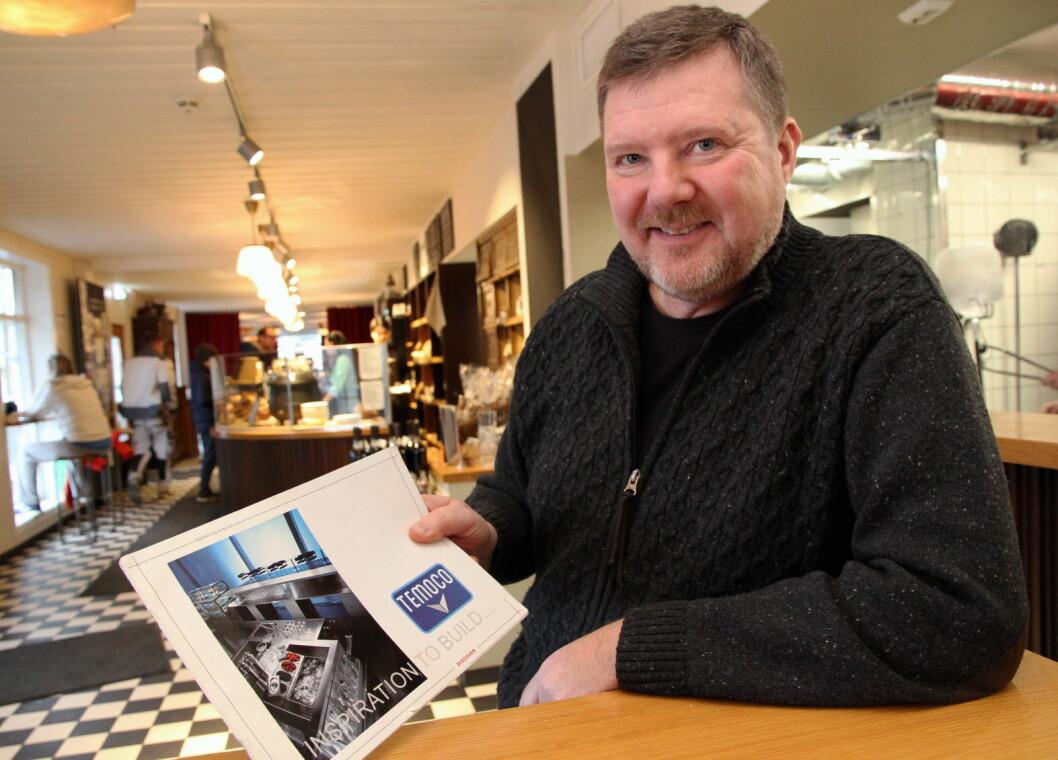 Morten Hovde Larsen hos Temoco. (Foto: Morten Holt)