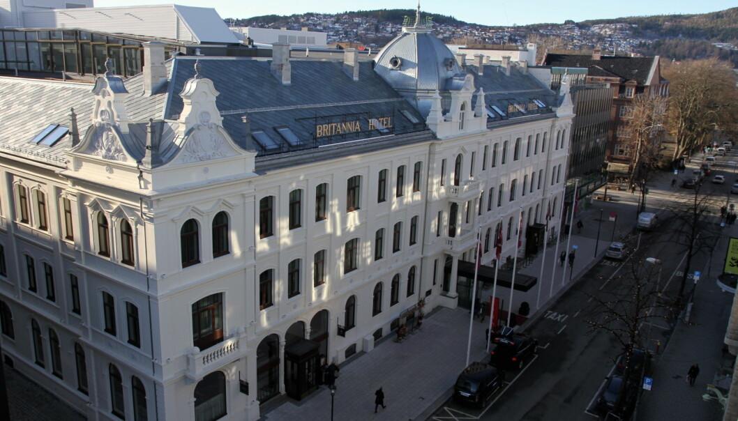 Britannia Hotel stenges helt fra mandag. (Foto: Morten Holt)