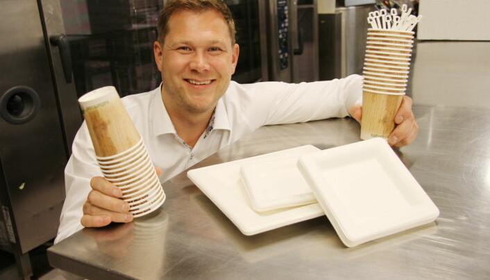 Espen M. Gryt hos Elvebredden Catering. (Foto: Morten Holt)