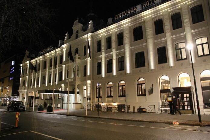 Britannia Hotel stenges fra mandag 16. mars klokka 12. (Foto: Morten Holt)
