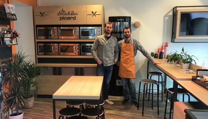 Gaël Faremo (til venstre) og Yann Faremo i Picard Norge. (Foto: Nathalie Hermier)