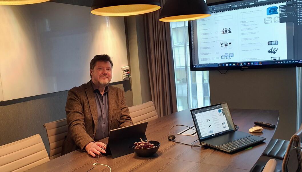Morten Hovde Larsen på sitt kontor på Clarion Hotel The Hub. (Foto: Privat)