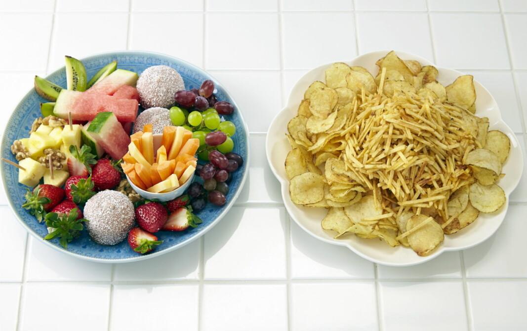 Lørdag hele uken? Nå er det på tide å ta hverdagen tilbake og ta sunne valg. Velg fatet til venstre. (Foto OFG)