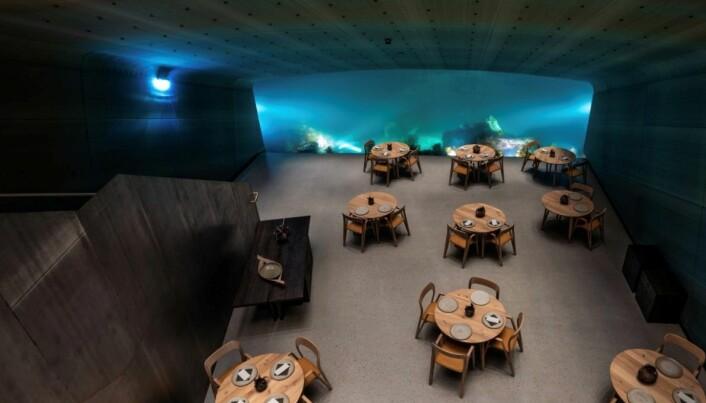 Restaurant Under kan vinne Nordisk Lyspris 2020. (Foto: Tomasz Majewski/Lyskultur)