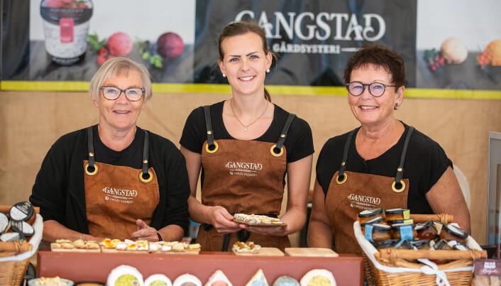 Gangstad Gårdsysteri på Trøndersk matfestival. (Foto: Oi! Trøndersk matfestival)