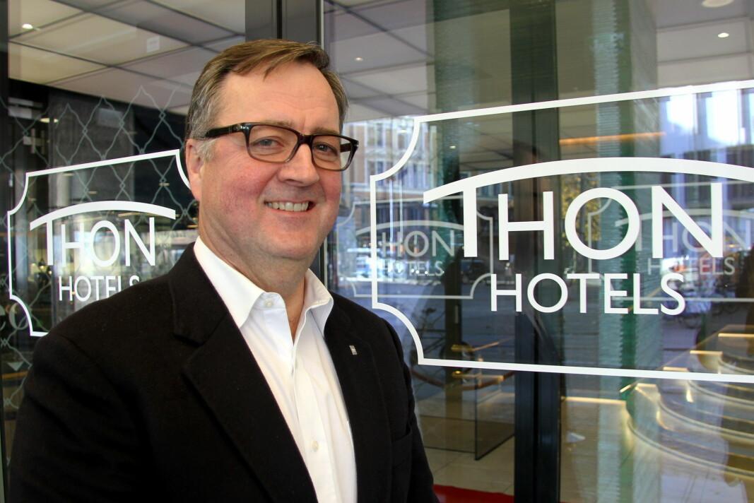 Konserndirektør for Thon Hotels, Morten Thorvaldsen, sier at en rekke hoteller skal gjenåpnes i løpet av mai. (Foto: Morten Holt, arkiv)