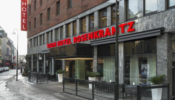 Thon Hotel Rosenkrantz i Oslo er ett av hotellene som gjenåpnes i mai. (Foto: Morten Holt)