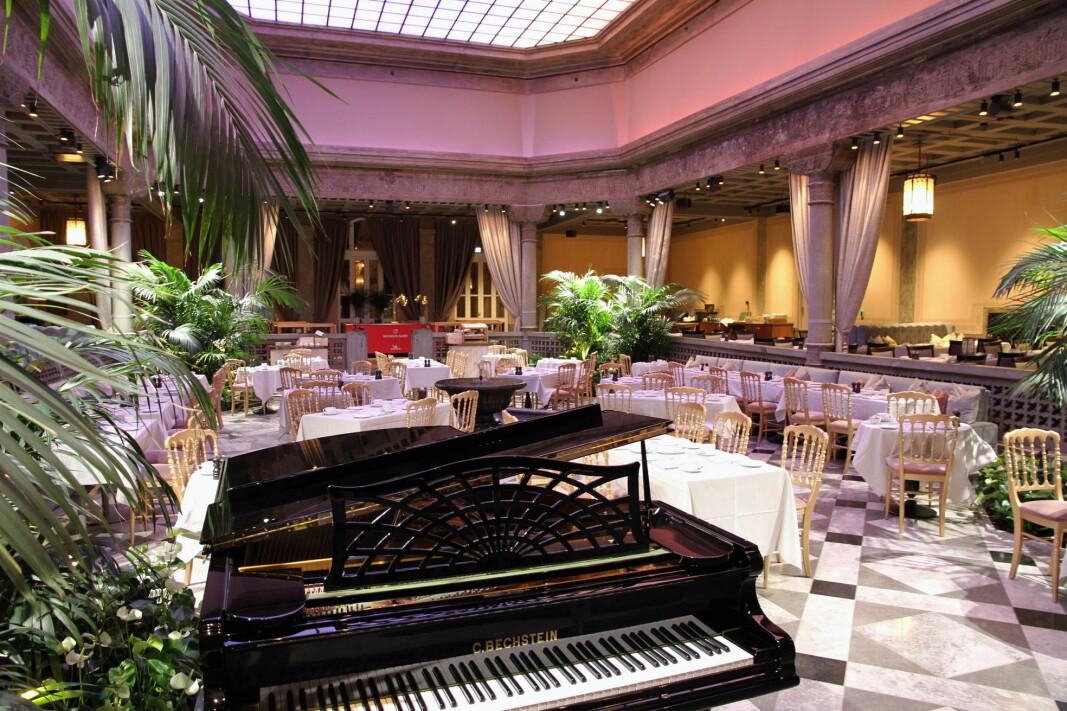 I løpet av sommeren blir de mange konserter i Palmehaven på Britannia Hotel. (Foto: Morten Holt)
