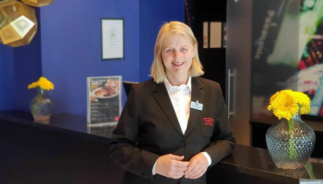 Hotelldirektør på Thon Hotel Europa, Inger Buttingsrud. (Foto: Thon Hotels)