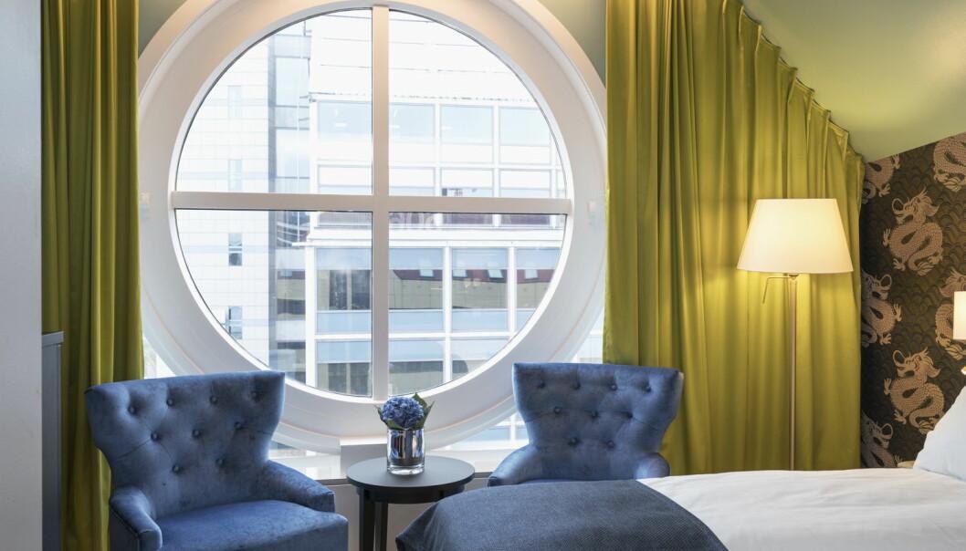 Nyoppussede Thon Hotel Terminus ligger midt i bykjernen i Oslo, rett ved Oslo City, Gunerius, Oslo Spektrum og Oslo Sentralbanestasjon. (Foto: Thon Hotels)