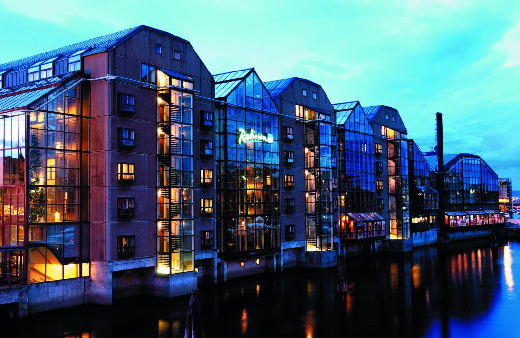 Radisson Blu Royal Garden Hotel i Trondheim er et av hotellene som nå gjenåpnes. (Foto: Radisson Blu)
