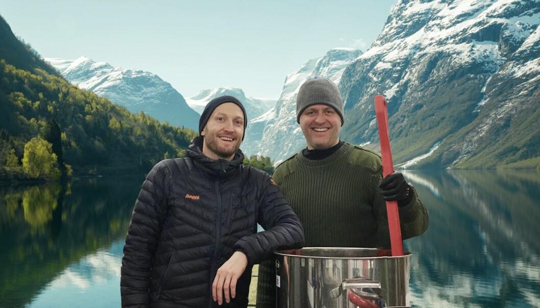 Øyvind Løkling (til venstre) og Jann Vestby står bak Fjording. (Foto: Fjording)