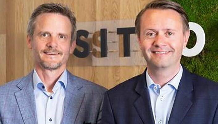 Gjøran Sæther (til høyre) sammen med administrerende direktør i VisitOslo, Christian Lunde. (Foto: VisitOslo)