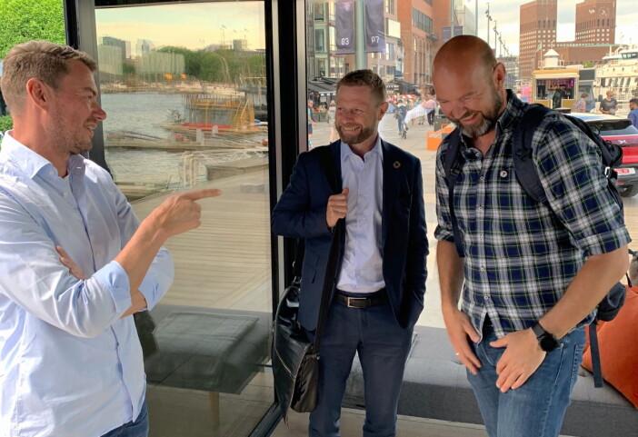 Ole Henrik Eftedal sammen med Bent Høie og Dag Terje Klarp Solvang (Foto: 2080)