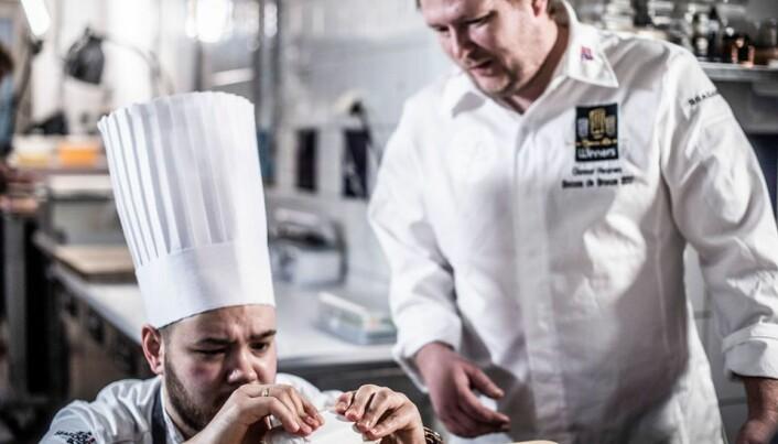 Christian A. Pettersen og Gunnar Hvarnes. (Foto: Tom Haga)