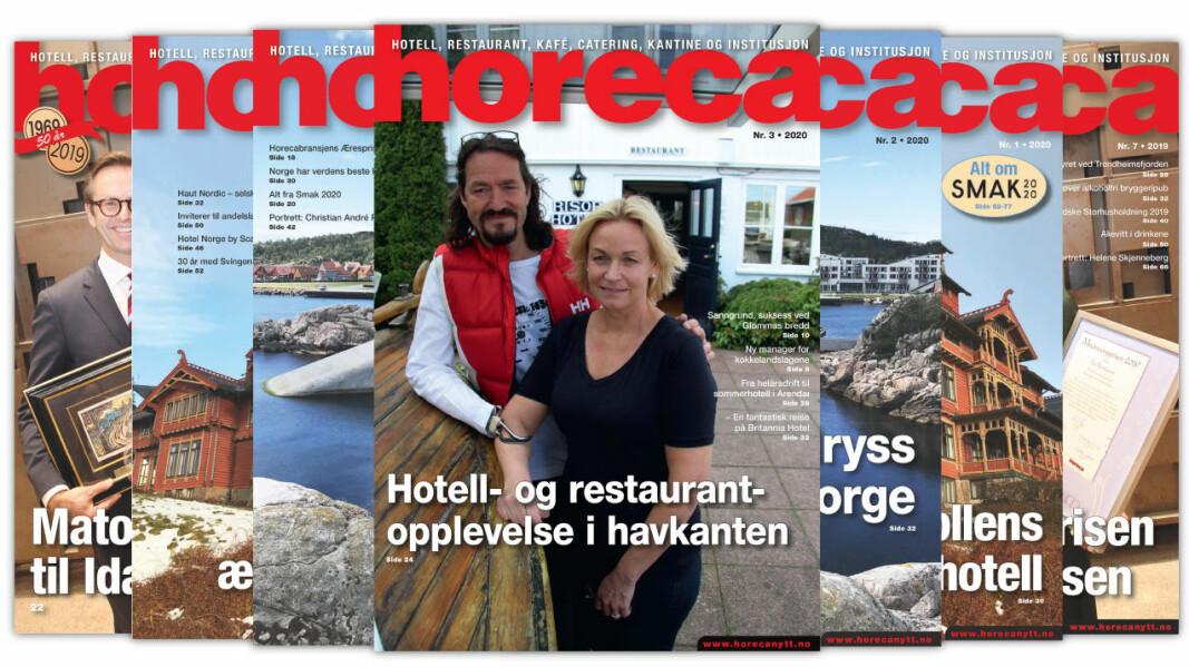 Forsiden på Horecas tredje utgave i 2020. (Foto: Morten Holt/layout: Tove Sissel Larsgård)