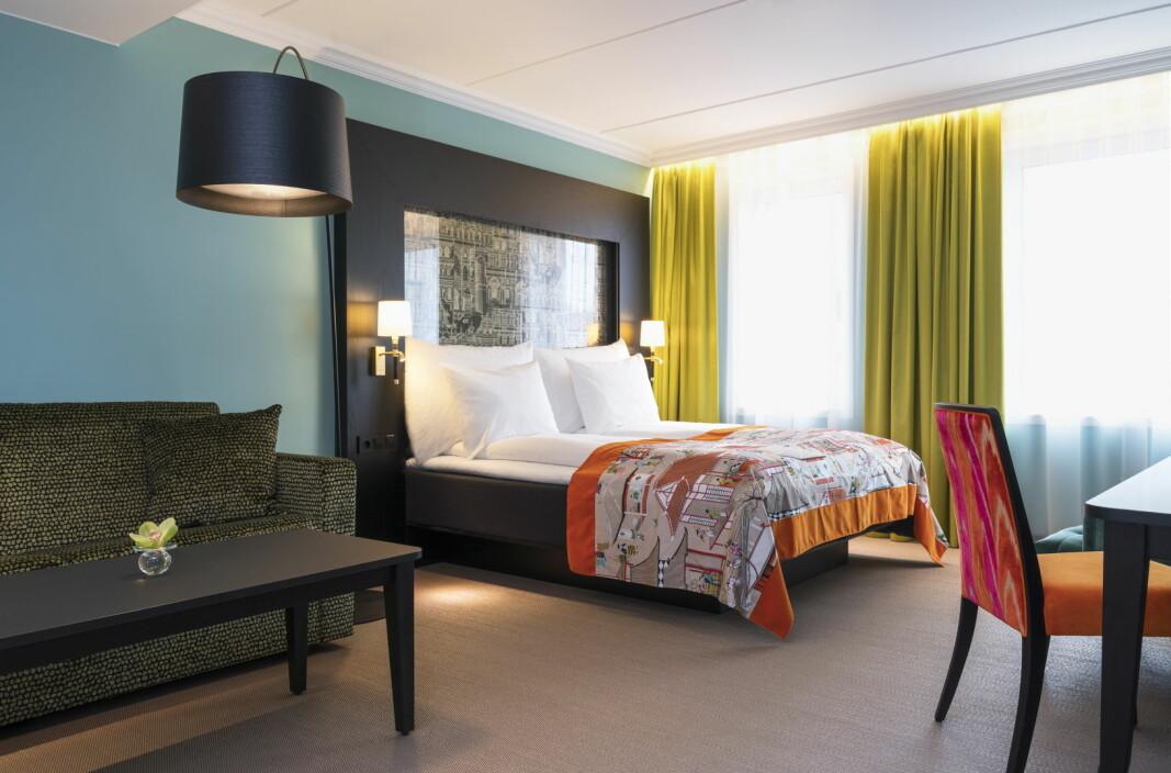 Ett av rommene på Thon Hotel Stavanger, ett av sju Thon-hoteller som gjenåpner mandag 15. juni. (Foto: Thon Hotels)