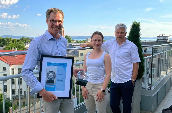 Fra venstre: Bård Tveito (Coca-Cola European Partners), Alexandra Buan (kategorisjef i NHO Reiseliv Innkjøpskjeden), Morten Karlsen (direktør for verving og innkjøp i NHO Reiseliv Innkjøpskjeden). (Foto: Anna Ellingsen)